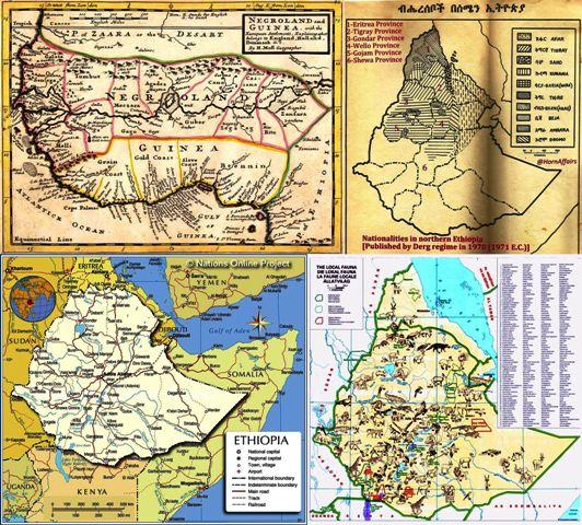 all old and new ethiopian maps