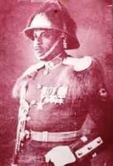 abdissa aga in military uniform