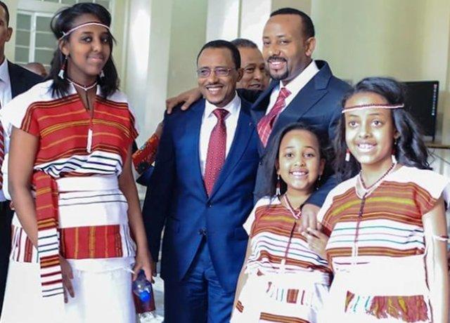 abiy ahmed lemma megersa with children