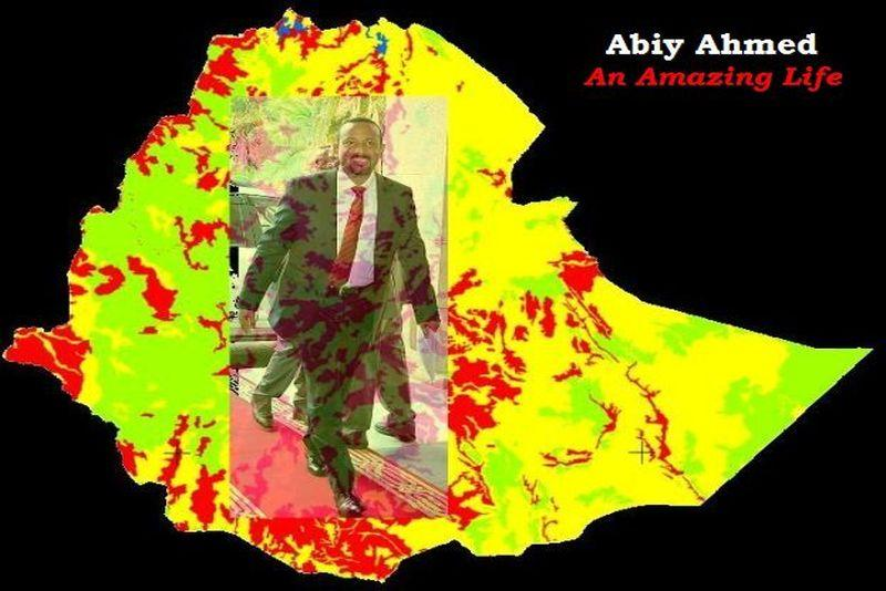 abiy ahmed on ethiopian map