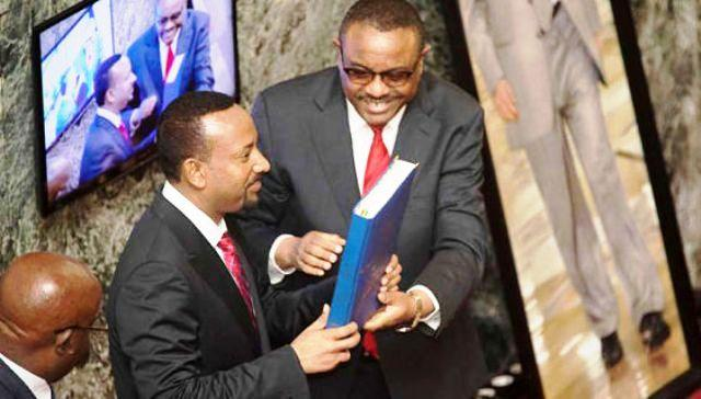 abiy ahmed sworn in prime minister