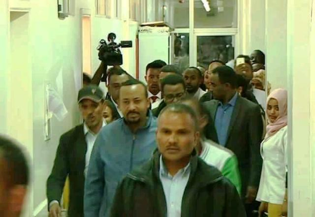abiy ahmed visiting bomb victims