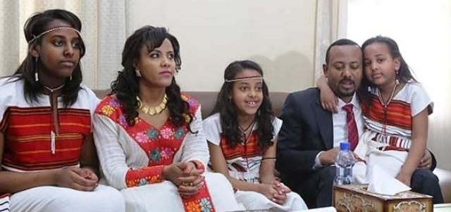 abiy ahmed with whole family