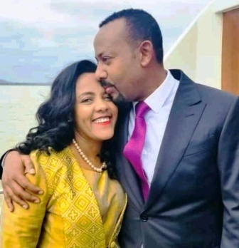abiy ahmed with wife zinash tana lake