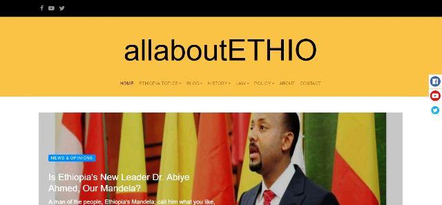 allaboutethio website homepage