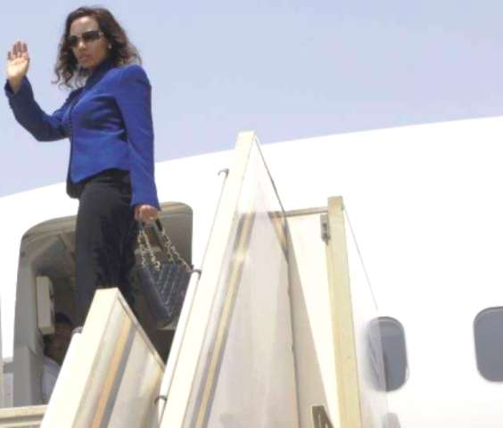 azeb mesfin in private plane