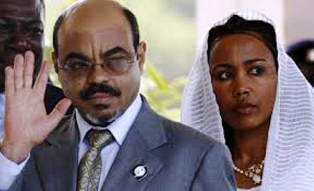 azeb mesfin with husband meles zenawi