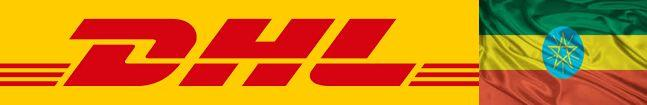 dhl logo with ethiopia flag