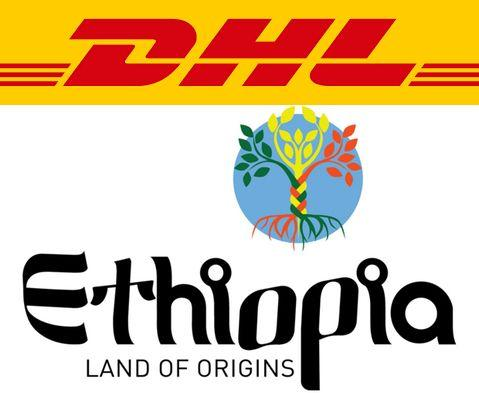 dhl logo with ethiopia land of origins