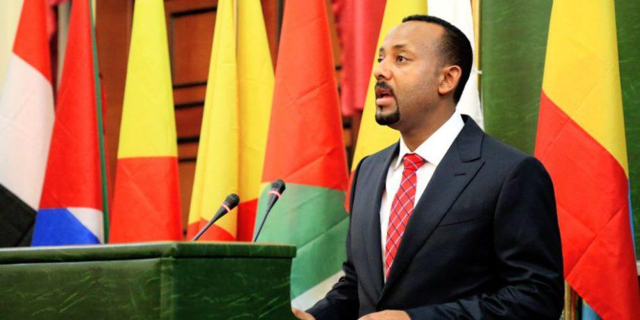 dr. abiye ahmed among ethiopia's flags
