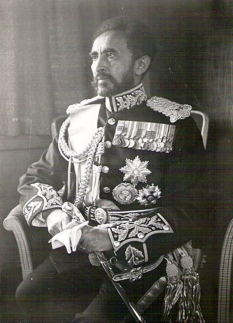 emperor haile selassie with full regalia