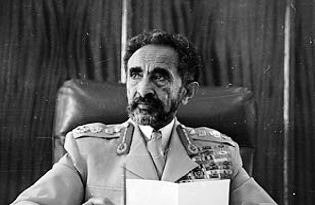 emperor haile selassie making announcment