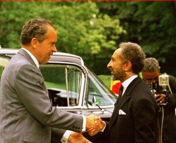 emperor haile selassie with richard nixon