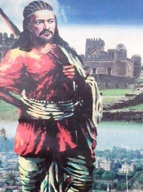 emperor tewodros overlooking city