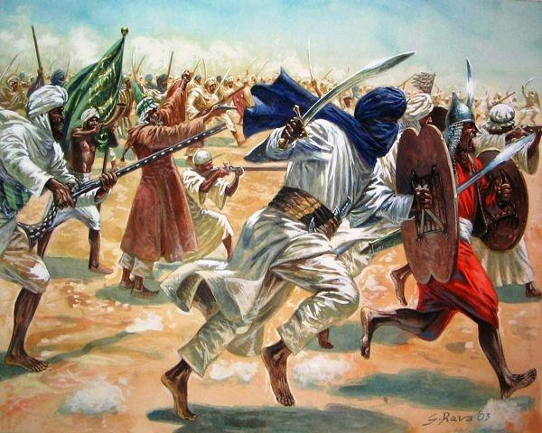 ethiopian mahdist war dervishes attacking