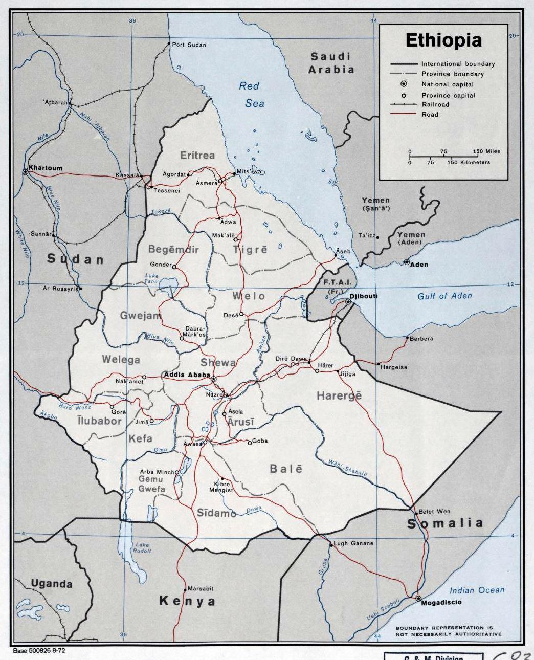 Map Of Ethiopia Regions 30 Old And New Ethiopian Maps You Have To