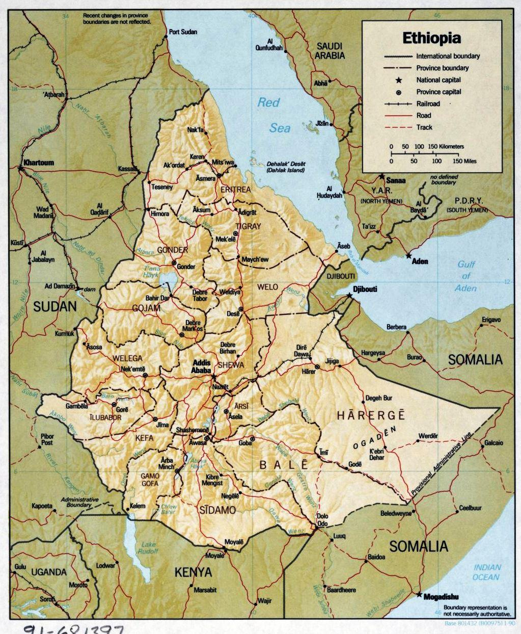 Map of Ethiopia Regions: 30 Old and New Ethiopian Maps You Have to ...