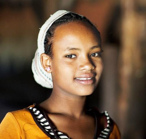 ethiopian people gurage girl smiling
