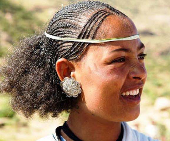 ethiopian people tigrayan girl smiling