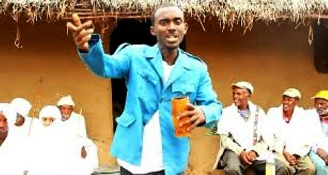 ethiopian rapper mc mike posing