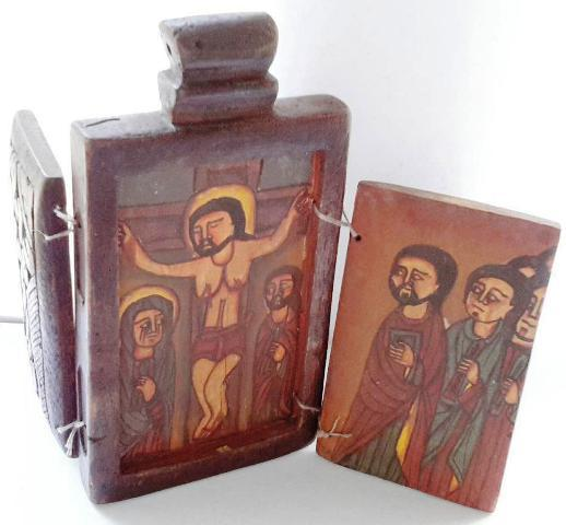 ethiopian tewahedo orthodox antique wood painting