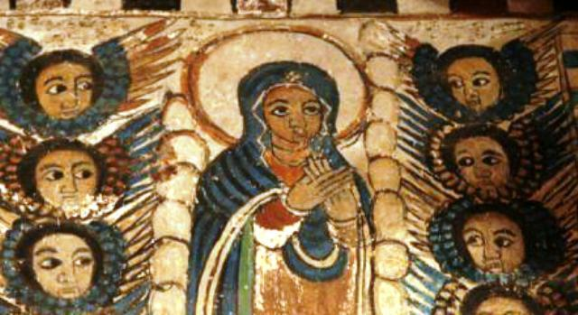 ethiopian tewahedo orthodox virgin mary st. mary painting