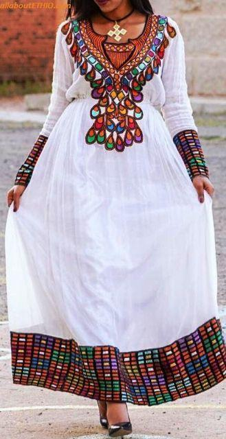 ethiopian traditional clothes habesha kemise 73