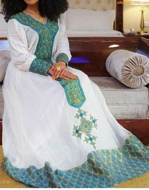 ethiopian traditional clothes habesha kemise 94