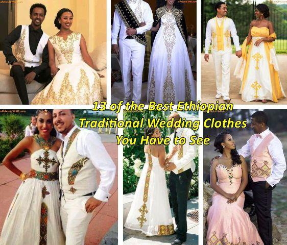 ethiopian traditional wedding clothes men women