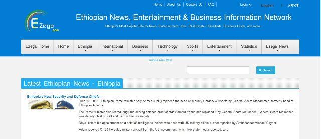 Most visited websites in ethiopia