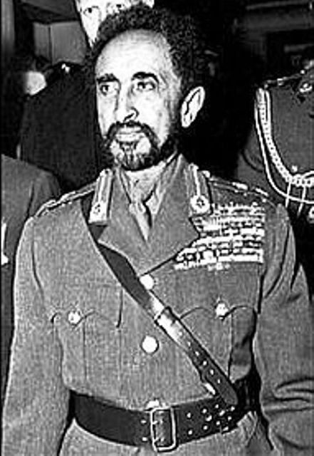 emperor haile selassie in military dress