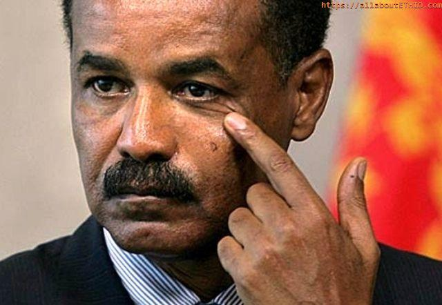 isaias afwerki with finger on eye