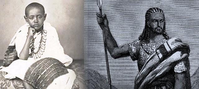 prince alemayehu with father tewodros