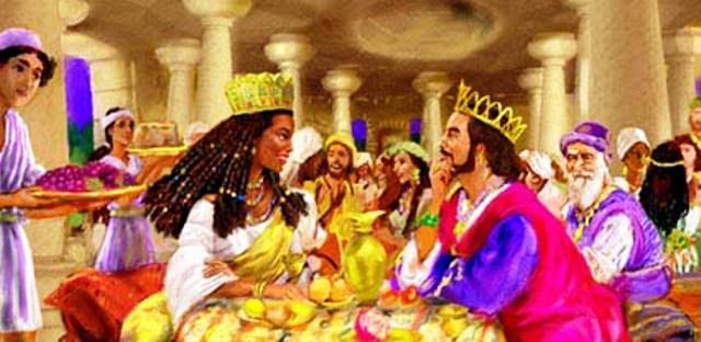 queen of sheba eating meal with king solomon