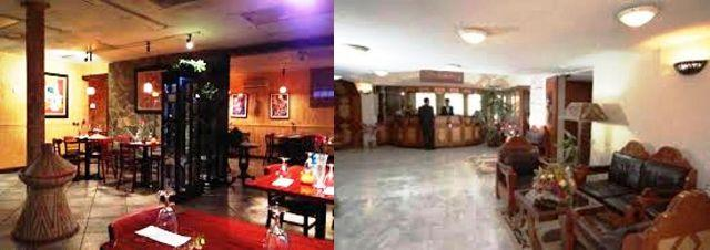 queen of sheba hotel lobby and dining area in ethiopia