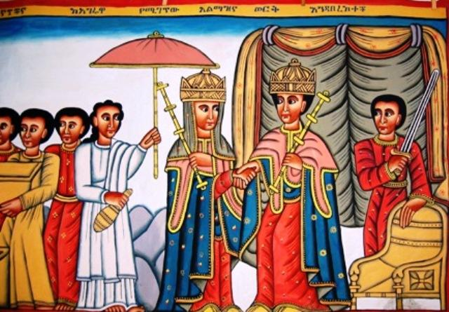 queen sheba and king solomon ethiopian artwork