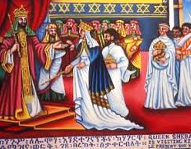 queen sheba visiting king solomon