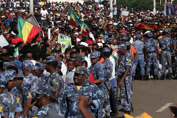 security forces at abiy ahmed support rally