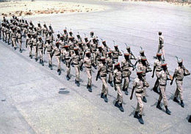 somalian soldiers in formation